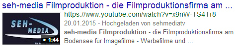 Video Marketing - Ihr Film im Suchergebnis